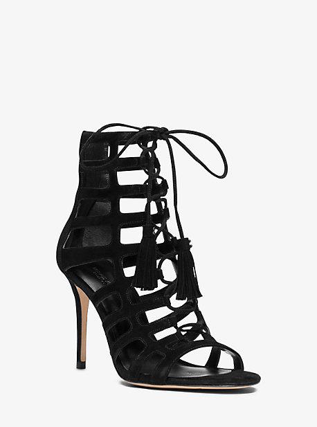 Michael Kors Bardot Suede Stiletto Sandal
