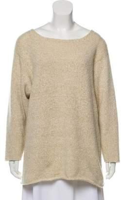 Malo Cashmere Long Sleeve Sweater Beige Cashmere Long Sleeve Sweater