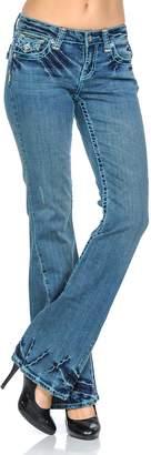 VIRGIN ONLY Women's Classic Fit Bootcut Jeans (364 Denim, Size)