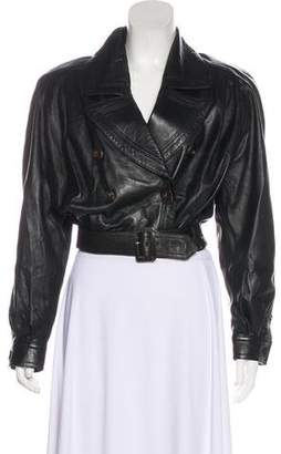 Valentino Cropped Leather Jacket