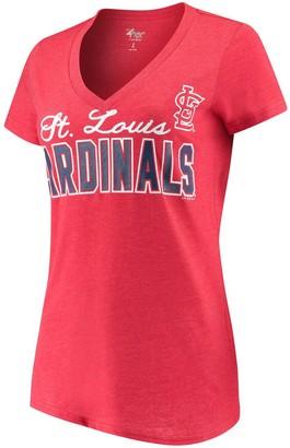 G Iii Women's G-III 4Her by Carl Banks Red St. Louis Cardinals Home Run V-Neck T-Shirt