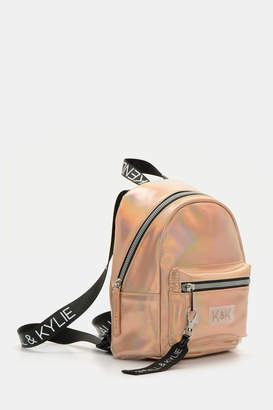 KENDALL + KYLIE Kendall & Kylie Metallic Faux Leather Backpack