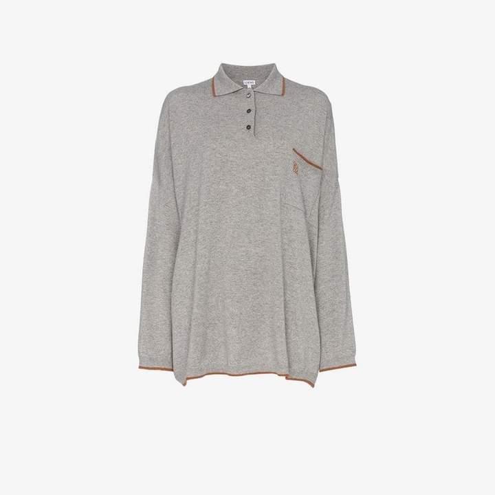 oversize cashmere poloneck jumper