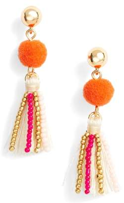 Rebecca Minkoff Beaded Tassel Earrings