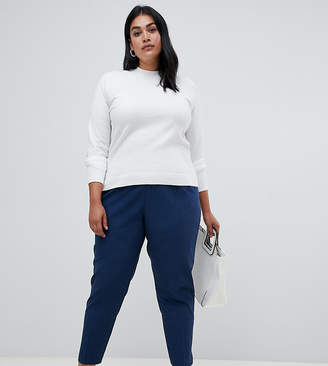 Plus Size High Waisted Trousers - ShopStyle UK 7447133619