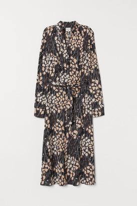 H&M Satin Dress with Tie Belt