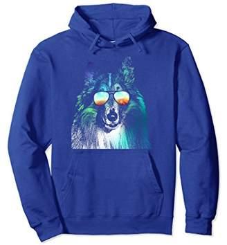 Collie Neon Dog Hoodie