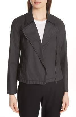 Eileen Fisher Stretch Organic Cotton Short Jacket