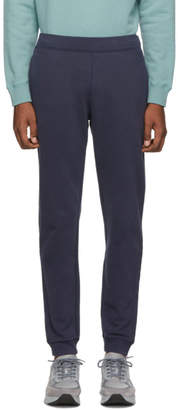 Sunspel Navy Cotton Loopback Track Pants