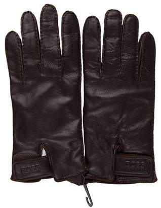 HUGO BOSS Boss by Leather Wool-Lined Gloves
