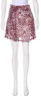 IRO Printed Mini Skirt