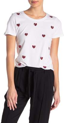 Romeo & Juliet Couture Heart Embossed Short Sleeve Shirt