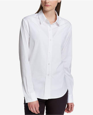 DKNY Cotton Button-Front Shirt