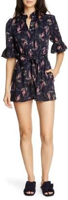 Rebecca Taylor Ivie Floral Silk Blend Romper