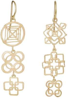 Judy Geib Women's Dangly Wheel Triple-Drop Earrings