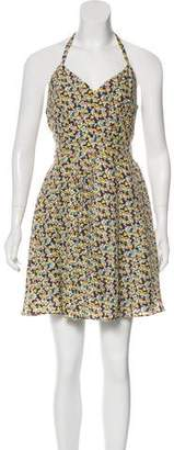Elizabeth and James Halter Printed Dress w/ Tags