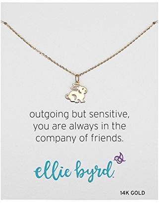 ellie byrd 14k Gold Rabbit Pendant Necklace