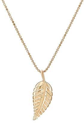 Jennifer Meyer Womens Leaf Pendant Necklace 0WwnQG
