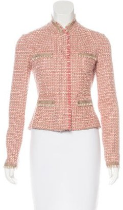 Elie Tahari Fringe-Trimmed Tweed Jacket $90 thestylecure.com