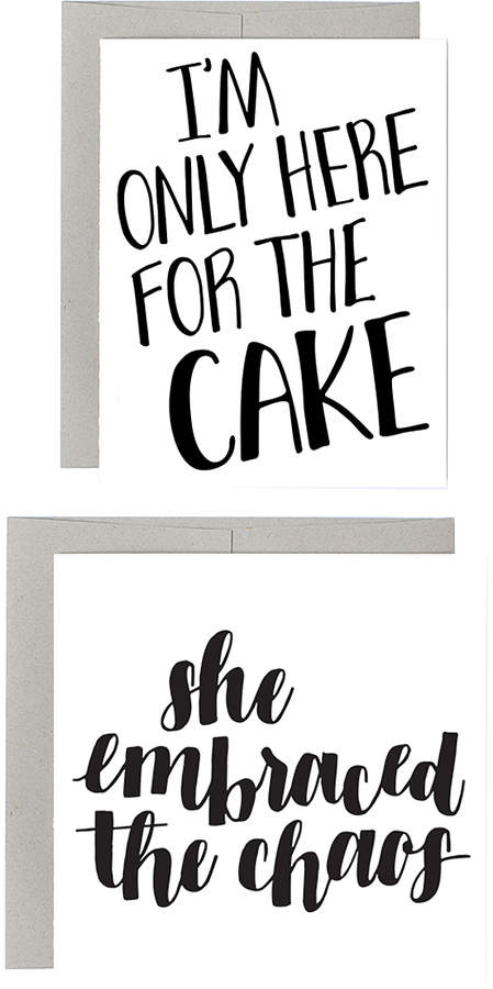 'Here for the Cake' Greeting Card Set