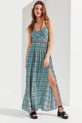 Urban Outfitters Gia Lace-Up Maxi Dress