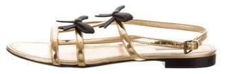 Fabrizio Viti Metallic Slingback Sandals