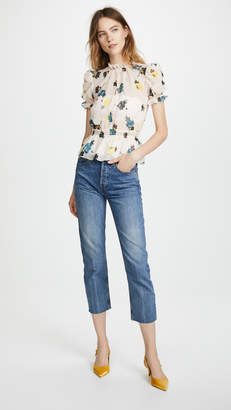 Self-Portrait Self Portrait Floral Print Top