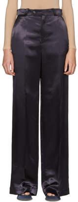 Acne Studios Navy Satin Tamilo Trousers