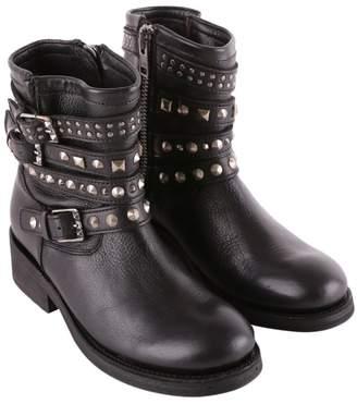"Ash Tatoo"" Leather Biker Boots"""