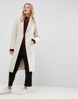Asos Design Slim Coat in Wool Blend