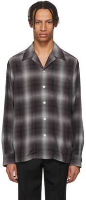 Wacko Maria Purple and Black Ombre Check Shirt