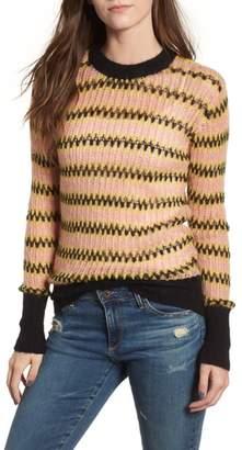 Scotch & Soda Zig Zag Wool Blend Sweater