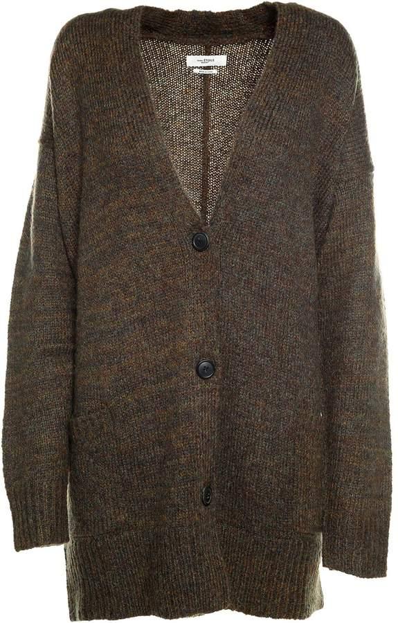 Isabel Marant Etoile Daxton Oversized V-neck Knit Cardigan