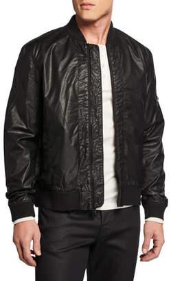 John Varvatos Men's Zigzag Coated Twill Bomber Jacket