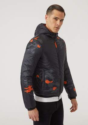 Emporio Armani Reversible Padded Blouson With Contrast Print