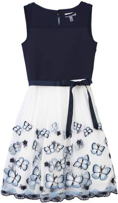 Speechless Girls 7-16 Butterfly Print Scuba Dress
