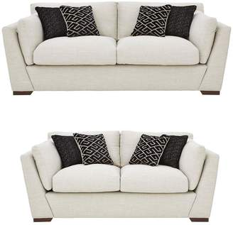 Very Ikonica 3 Seater + 2 Seater Fabric Sofa Set (Buy and SAVE!)