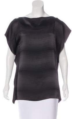 Maison Margiela Draped Patterned Top