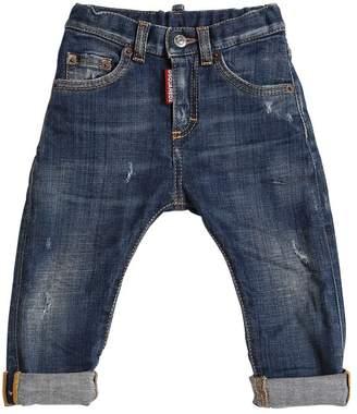 DSQUARED2 Stone Wash Cotton Stretch Denim Jeans