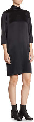 Vince Mock Silk Shift Dress