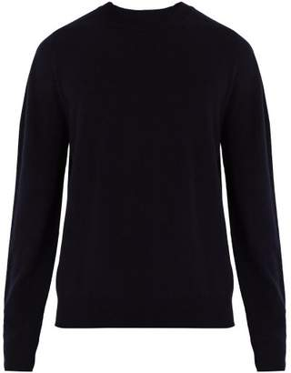 Jil Sander Crew Neck Cashmere Sweater - Mens - Black