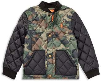 Ralph Lauren Boys' Quilted Camo-Print Jacket - Little Kid