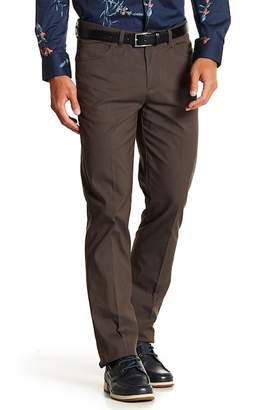 "Perry Ellis Mini Plaid Slim Fit Pants - 32\"" Inseam"