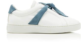 Alexandre Birman Clarita Bow-Embellished Leather and Suede Sneakers