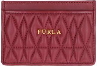 Furla Cometa Quilted Leather Card Holder