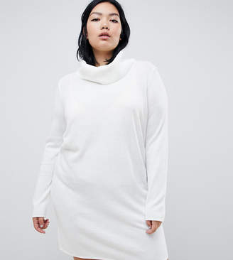 Asos DESIGN Curve cowl neck knitted mini dress