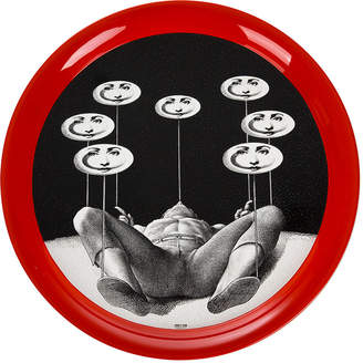Fornasetti Don Giovanni Round Tray - Black/White - 60cm