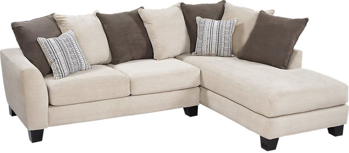 Rooms To Go Meridian Springs Charcoal 2Pc Sectional