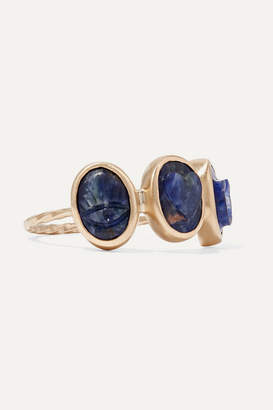 Pascale Monvoisin I Love You 9-karat Gold Sodalite Ring
