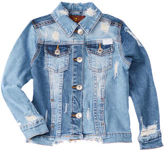 7 For All Mankind Seven 7 Cropped Denim Jacket